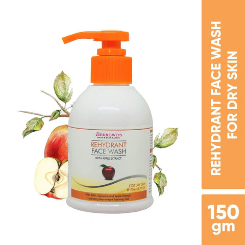 Berkowits Rehydrant Face Wash for Dry Skin with Apple Extract (150g)