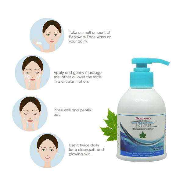 Berkowits Cool and Hydrating Glowing Skin Face Wash - 150gm
