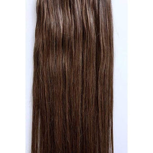 7 Piece Clip-On Chestnut Brown  Hair Extensions