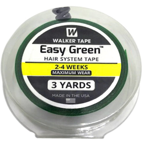 Berkowits Walker Easy Green Hair System Tape 1 inch X 3 Yards Roll