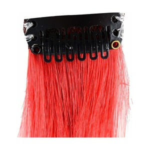 Hairwits Colour Highlighter Hair Extensions (Amber Red)