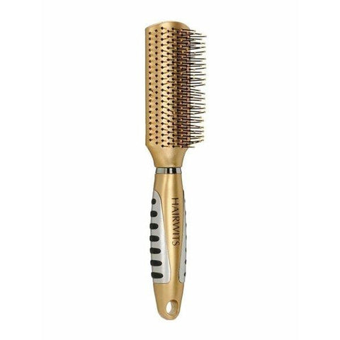 Berkowits Flat Hair Brush- 24K Gold