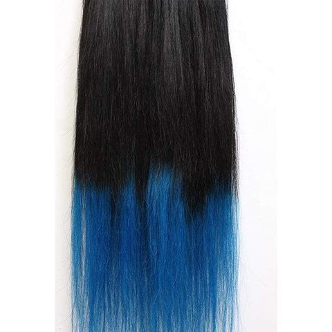 Hairwits Ombre Hair Extensions (Blue) -Set of 7 Pieces