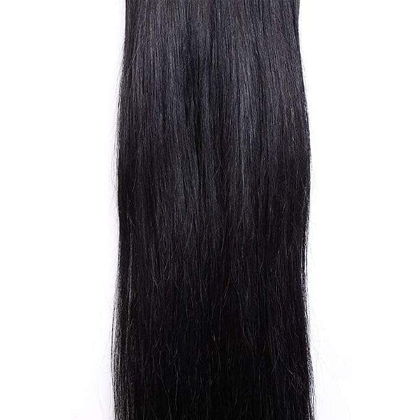 7 Piece Clip-On Jet Black Hair Extensions