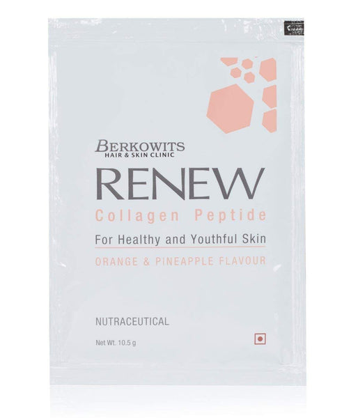 Berkowits Renew Collagen Peptide Healthy Supplement 10.5 gm, Pack of 10 Sachets