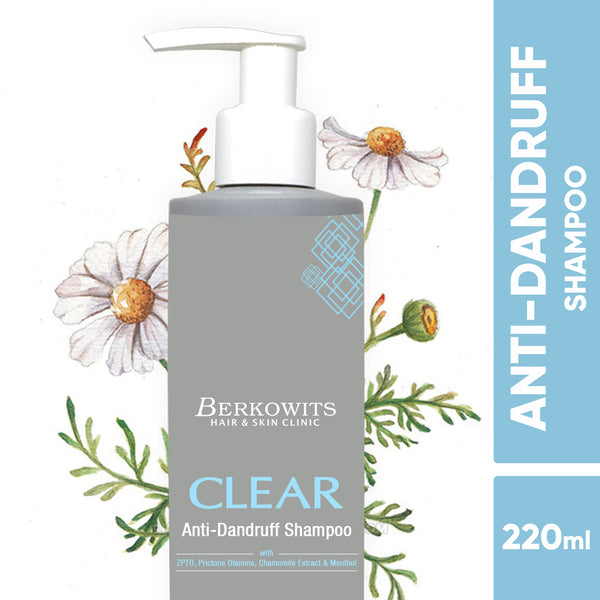 Berkowits Clear Anti Dandruff Shampoo with Menthol 1+1 Offer (440ml)