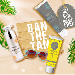 Ban the tan with our latest offer of Berkowits vitamin c and Protect sunscreen With ClearFree Facewash