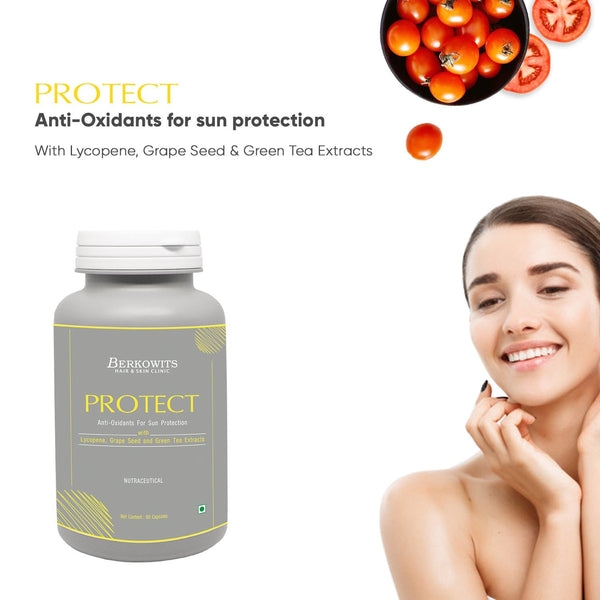 Berkowits Protect - Sun and Pollution Protection AntiOxidants Supplements for Skin - 60 Capsules