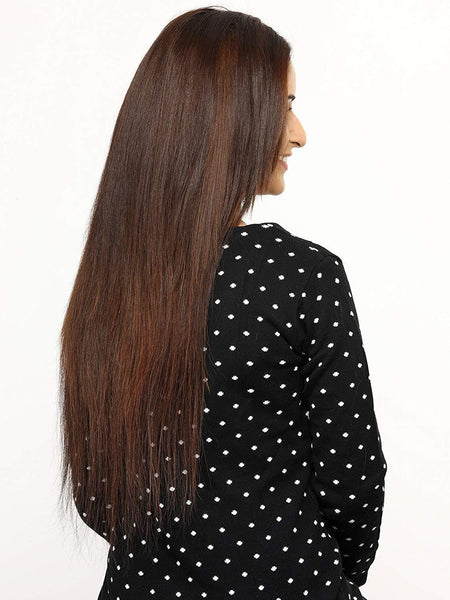 7 Piece Highlights Dark Auburn Hair Extensions