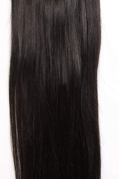 7 Piece Clip-On Dark Brown Hair Extensions