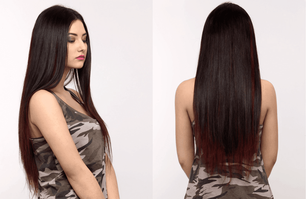 7 Piece Clip-On Wine Hair Extensions