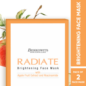 Berkowits Radiate Brightening Face Mask Sheets (Pack of 2 Mask Sheets)