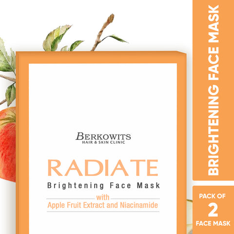 Berkowits Radiate Face Mask Sheets for Glowing Skin (Pack of 2 Sheets)