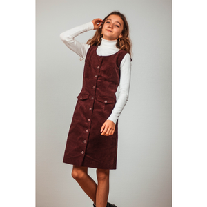 Ribbed velvet Burgundy dress -30%