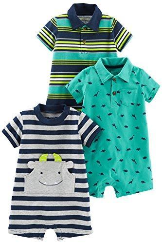 Simple Joys Carters Rompers Turquoise