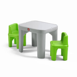 Step2 Mighty My Size Kids Table & Chairs Set, Grey & Green 854400