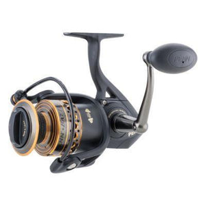 Penn Battle BTLII5000 Spinning Reels, Black/Gold/Smoke