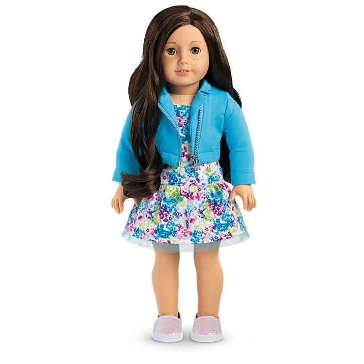 Truly Me Doll #55 - Light Skin, Freckles, Dark Brown Hair, Hazel Eyes