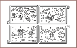 COLOUR ME MATS Space Exploration (Colouring Mat Only)