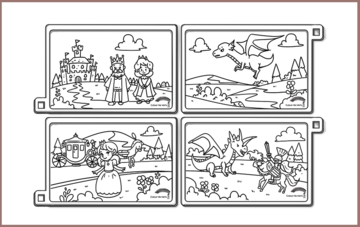 COLOUR ME MATS The Princess and the Dragon (Colouring Mat only)