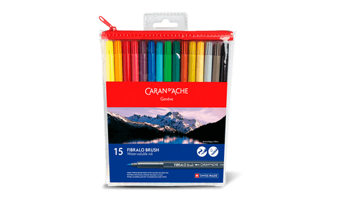 Caran d'Ache Fibralo Brush Markers 15 (Water-soluble)