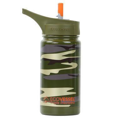 ECOVESSEL Frost - 13oz (400ml) Kids TriMax Triple Insulated Steel Bottle with Straw Top