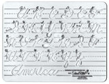 SCHOOL RITE Uppercase Cursive Template