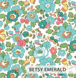 ELIZABETH LITTLE Liberty Print 2 Ply Mask FC - Adult (Betsy Emerald)