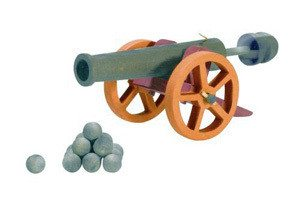 OSTHEIMER Cannon large with 10 Cannonballs