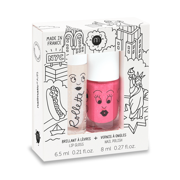 NAILMATIC KIDS - Duo Set - New York - Rollette Nail Polish