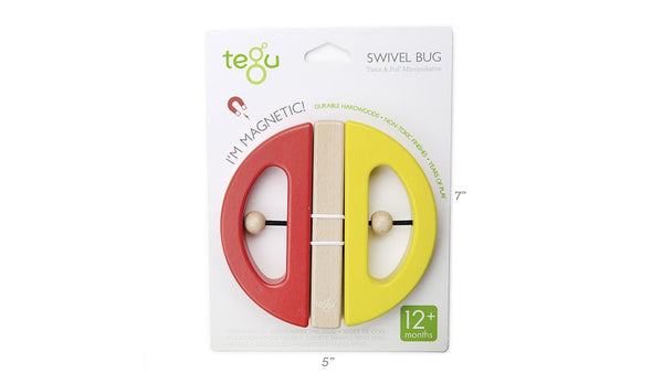 TEGU Swivel Bug Building Blocks, Yellow & Poppy