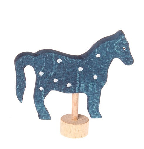 GRIMM'S Decorative Figure Horse, Blue