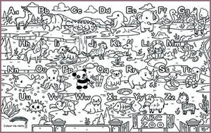 COLOUR ME MATS ABC Alphabet Zoo (Colouring Mat Bundle)