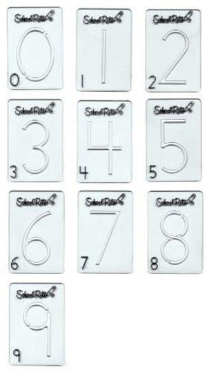 SCHOOL RITE Beginning Alphabet Templates, Numbers 0-9