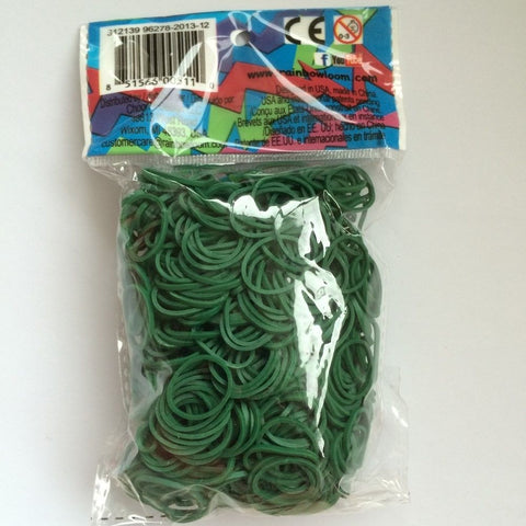 RAINBOW LOOM Elastic Bands - Opaque Dark Green
