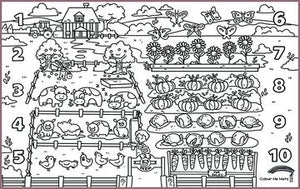 COLOUR ME MATS 123 Counting Farm (Colouring Mat Only)
