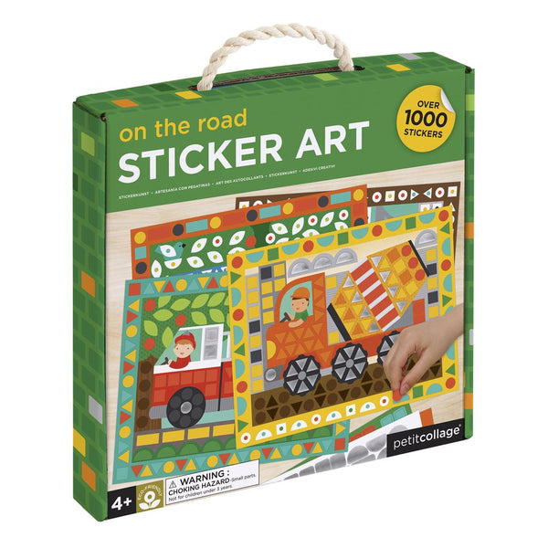 PETIT COLLAGE On The Road Sticker Art Kit