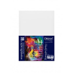 DREAM Hpress Watercolour Paper Fine Grain 300gsm A4 - 10's