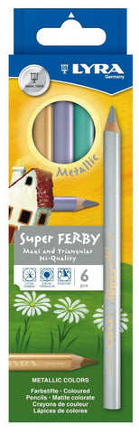 LYRA Super Ferby lacquered ass. 6 colors metallic - (Box 6pcs)