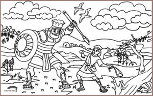 COLOUR ME MATS David & Goliath (Colouring Mat)