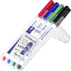 Staedtler Lumocolor Whiteboard Pens 1mm tip Pack of 4