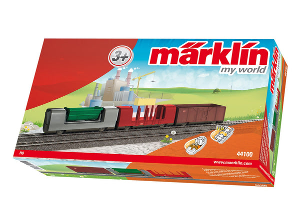 MARKLIN Add-On Car Set for the Freight Train, 3 Freight Cars with magnet couplers