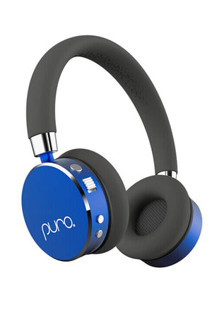 PURO BT2200 Blue Studio Grade Children's Bluetooth Headphones