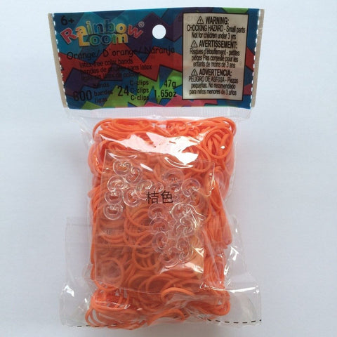 RAINBOW LOOM Elastic Bands - Opaque Orange