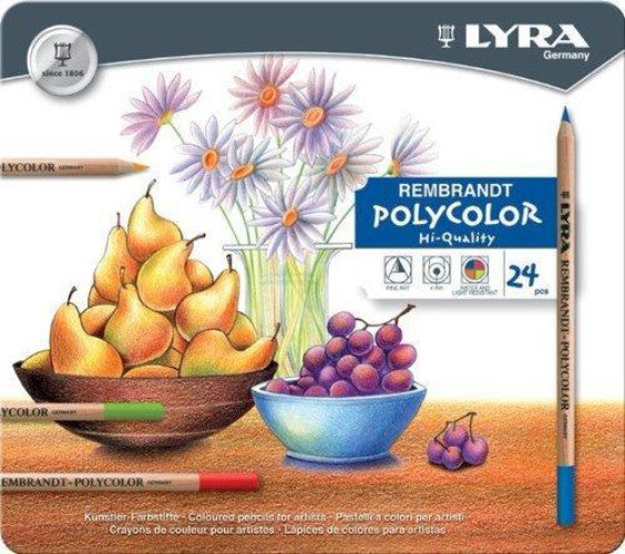 LYRA Rembrandt Polycolor ass. 24 colors - (Tin 24pcs)