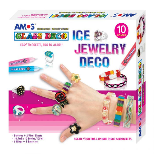 AMOS Glass Deco 10.5ml X 10's - Ice Jewellery