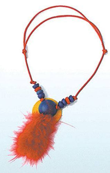 HELGA KREFT Necklace red feather