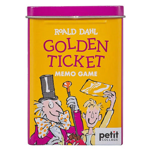 PETIT COLLAGE Roald Dahl Golden Ticket Memory Game