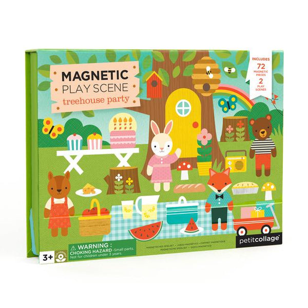 PETIT COLLAGE Treehouse Party Magnetic Play Scene