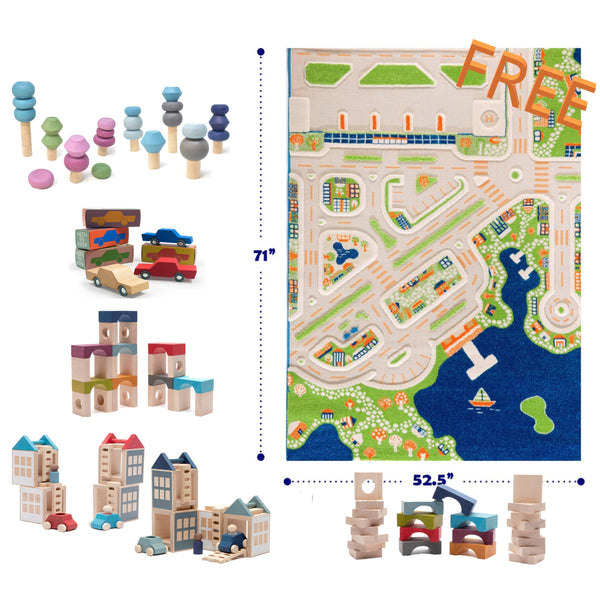 Bundle FREE IVI Large Carpet with Lubulona and Waytoplay cars